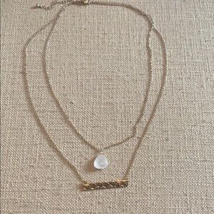 Pretty Gold Platted Layered Necklace
